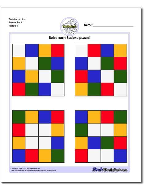 color sudoku color sudoku for math worksheets math