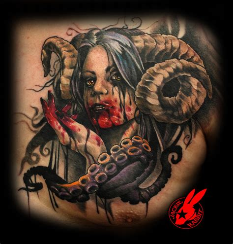 queen jackie tattoo demon queen portrait tattoo by jackie rabbit by