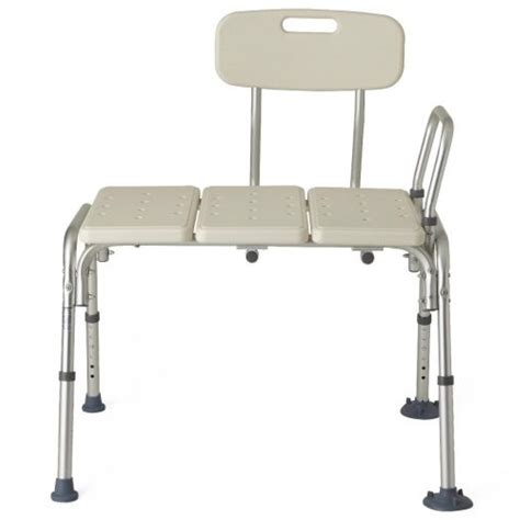 guardian shower bench transfer bench with back mds86952