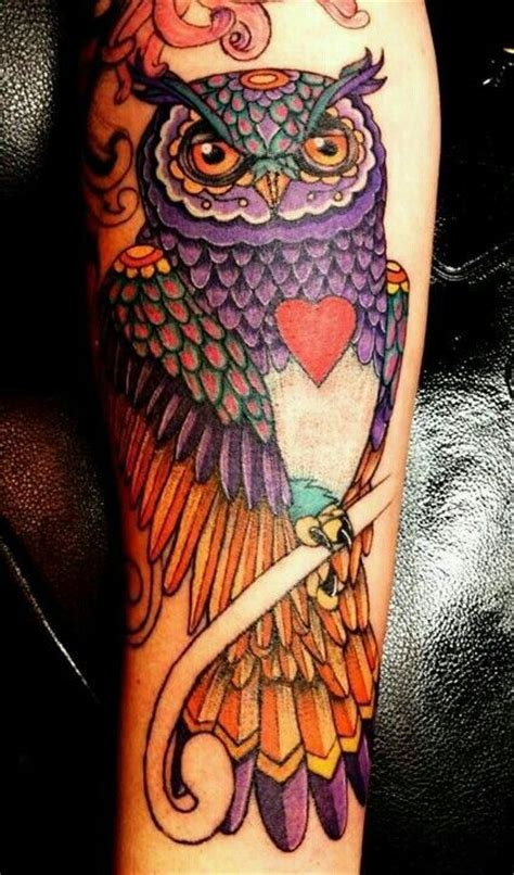 owl tattoo purple purple owl tattoo tattoos