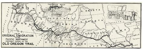 map of oregon landmarks file oregontrail 1907 jpg
