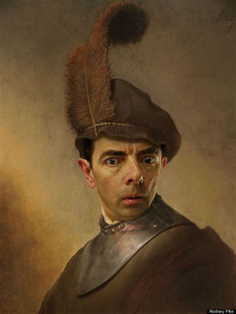 painting mr bean mr bean infiltrates history in hilarious photo series