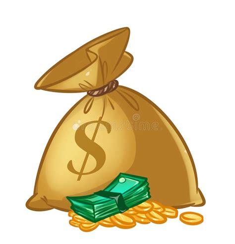 clipart soldi illustrazione fumetto dei dollari della borsa dei