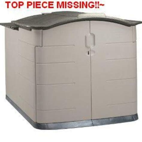 Rubbermaid Storage Shed Parts by Rubbermaid Slide Lid Storage Shed 3752 92 Cubic Ft Ebay