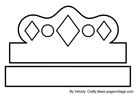 printable crown template crown pattern for kids king crown template printable