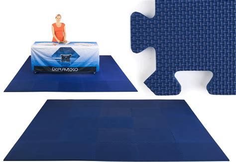 10 X 10 Mat - trade show floor easy install navy blue 10 x 10 foam mat