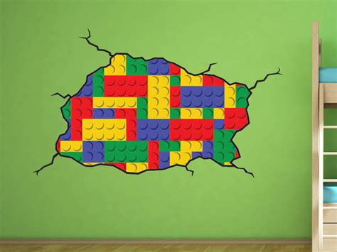 lego style wall decal bedroom lego room decoration