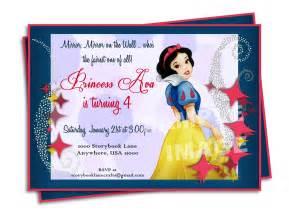 snow white invitation disney princess birthday
