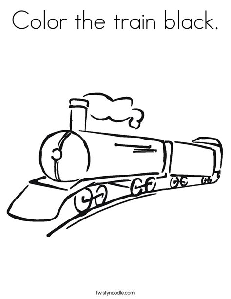 Color The Train Black Coloring Page Twisty Noodle Black Coloring Pages