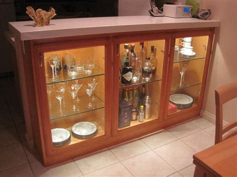 Adding display cabinets in kitchen/dining area