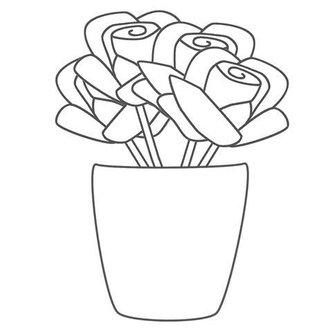 Coloriage Vase De Fleurs 224 Imprimer