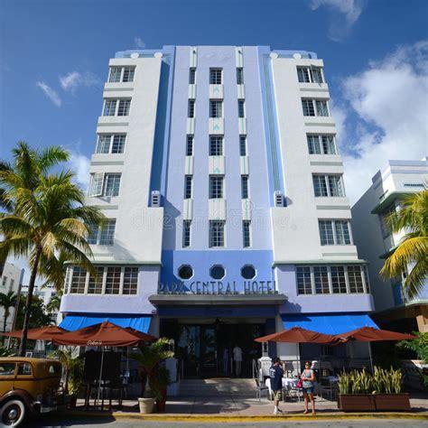 Deco Miami Style Deco Style Park Central In Miami Editorial Photo