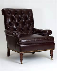 Leather library chair new england library chair