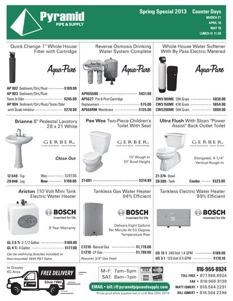 Pyramid Plumbing Supply by Pyramid Pipe Supply Plumbing Sales Flyer 2013 Pg4