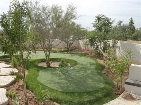 Put Grass In Backyard by Triyae Artificial Grass Backyard Putting Greens