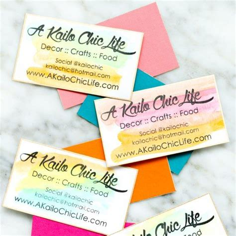 Business Cards For Handmade Crafts - 25 best ideas about watercolor business cards on