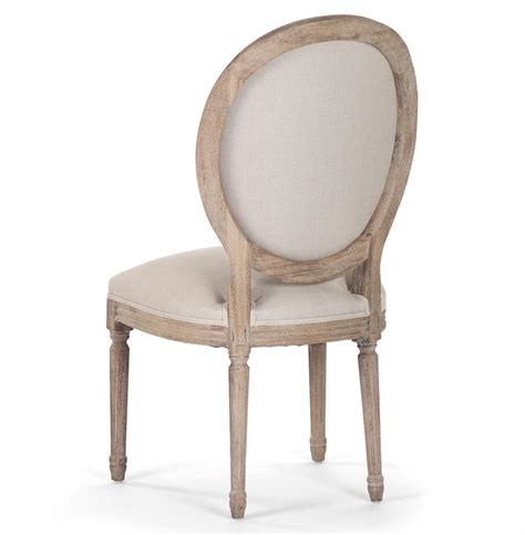 Oval Dining Chair Pair Madeleine Country Oval Linen Limed Oak Dining Side Chair Kathy Kuo Home