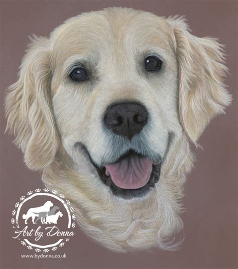 golden retriever portrait pet portraits animal by uk artist donna portraits painted by
