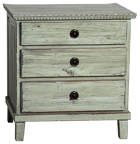 Distressed Wood Nightstand by Soren Nightstand Distressed Grey Transitional