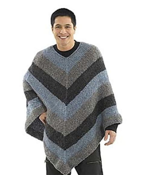 mens poncho knitting pattern ravelry mitered unisex poncho crochet pattern by