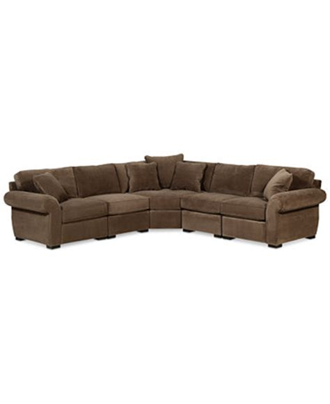 s shaped sectional sofa trevor fabric 5 piece 117 quot l shaped sectional sofa