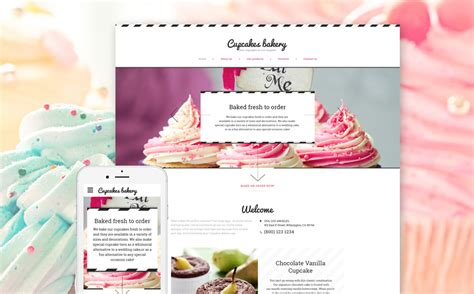 Cake Website Template by Cake Shop Website Template