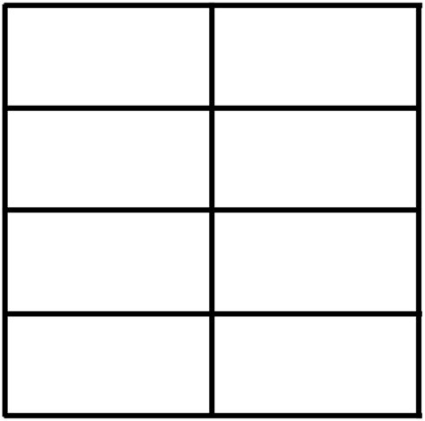 4 by 2 table 2 column 4 row table clip at clker com vector clip