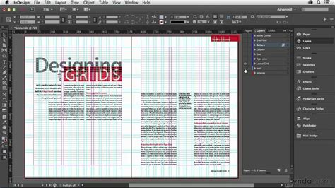 in design layout grid indesign tutorial the parts of a grid lynda com youtube