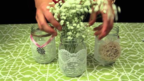 Mason Jar Vases Wedding How To Decorate Mason Jars For A Wedding Youtube