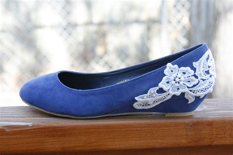 flat blue shoes wedding shoes blue flat low wedge wedding shoes by walkinonair