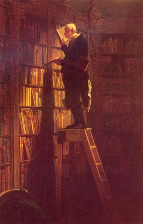 the bookworm painting carl spitzweg painting