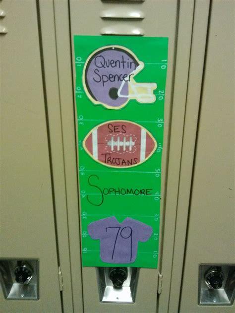 Football Locker Decorations by Locker Decorations Lockers And Football Season On