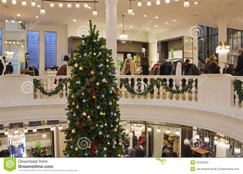 christmas tree in department store editorial image image