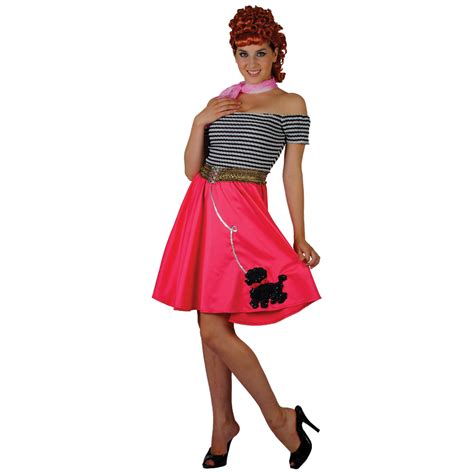 50 theme costumes hairdos grease fab 1950s style poodle girl fancy dress costume ebay