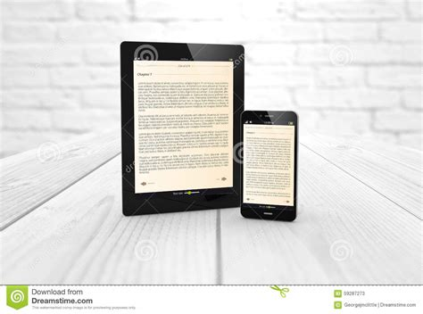 read mobile mobile reading and literature library concept stock