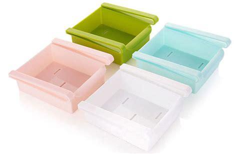 Rak Kulkas laci tambahan serbaguna untuk rak kulkas meja blue