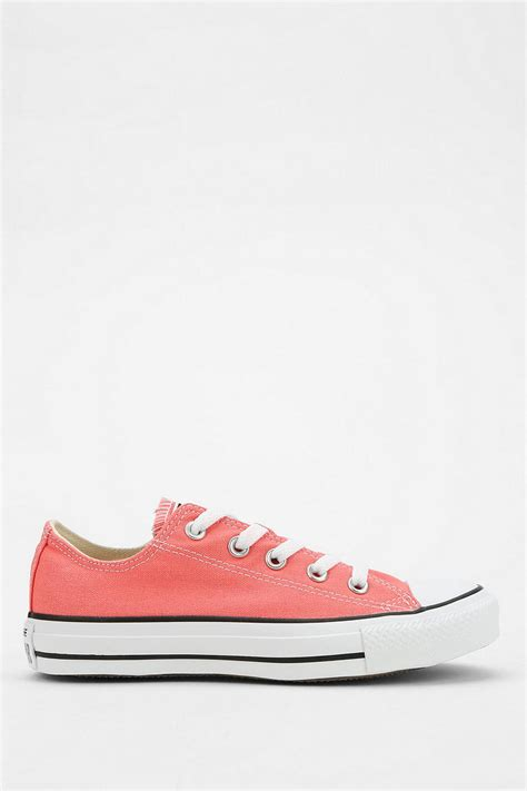 converse chuck all low top sneaker converse chuck all low top sneaker in pink lyst