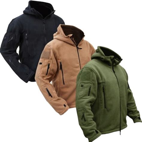 Sepatu Detail Island 05 tactical winter fleece hooded outdoor jacket