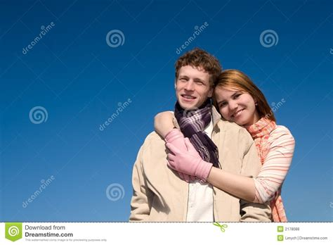Cauple Senny a on a day royalty free stock photos image 2178088