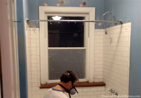 installing a bathroom window solution to the large window in the shower simple diy