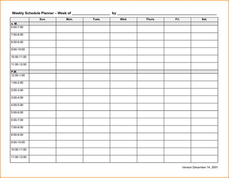 Blank And Editable Weekly Schedule Planner Template For Employee Or Students Vatansun Editable Daily Planner Template