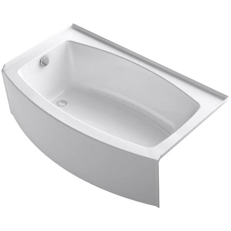 bathtub 60 x 36 kohler expanse 60 quot x 30 36 quot soaking bathtub wayfair