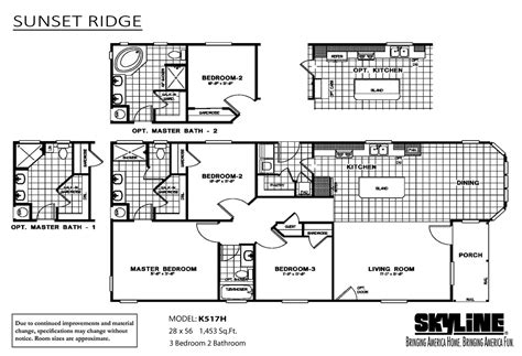 skyline mobile homes floor plans skyline homes san jacinto