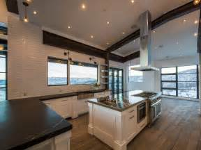 Stainless Steel Topped Kitchen Islands kitchen with sloped ceiling modern kitchen