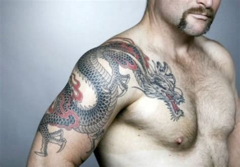 dragon tattoo on chest and arm 50 unique dragon tattoos for men amazing tattoo ideas