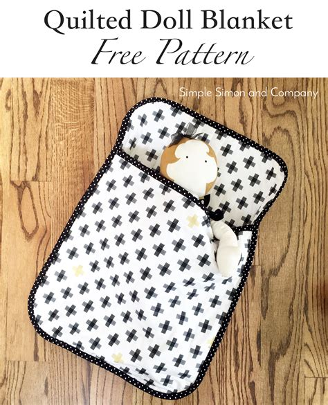 Quilted Blanket Pattern by Quilted Doll Blanket Free Pattern Simple Simon And Company