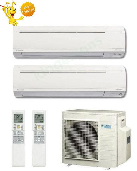 Ac Wall Mounted Daikin 12000 18000 btu daikin dual zone ductless wall mount