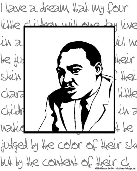martin luther king jr coloring free search results