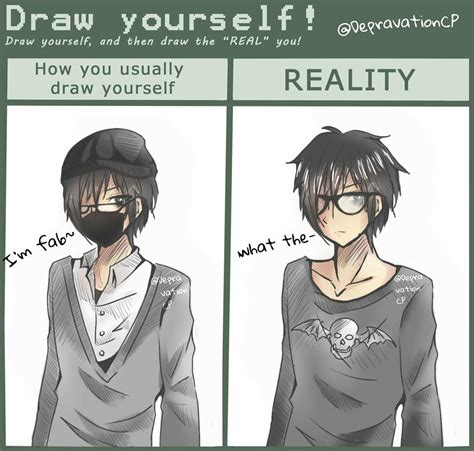 doodle draw yourself draw yourself meme depravationcp by depravationcp on