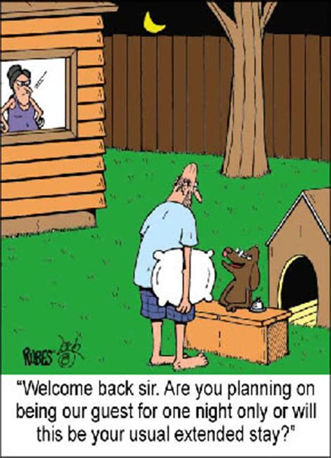 man in the dog house rubes cartoon magnets for your fridge page 3